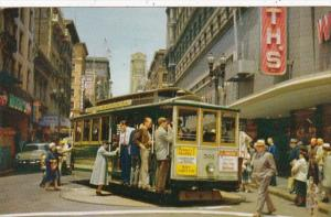 California San Francisco Cable Car On Turntable At Powell and Market Streets