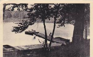RP; The Wharf and Bathing Beach, Clearwater Lake Lodge, Clearwater Lake Port ...