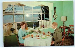 Country Surrey Inn Lakeside Dining Room Lake Gouldsboro PA Vintage Postcard D74