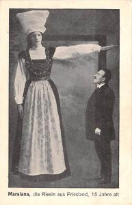 Marsiana die Riesin aus Friesland Tallest Person Unused