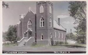 Wisconsin Taylor Lutheran Church RPPC