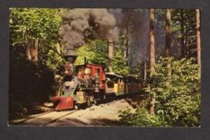 OR Portland Zoological Railroad Train OREGON Postcard