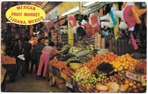 Mexico.  Mexican Fruit Market - Tijuana, Mexico.