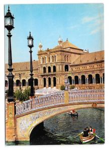 Spain Sevilla Plaza de Espana Seville Vtg Postcard 4X6