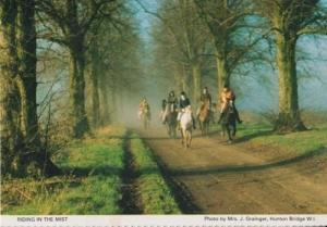 Mist Fog Race Horse Riding Jumping Herts Hertfordshire Womens Institute Postcard