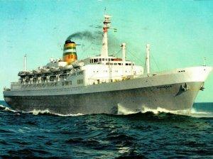 Advertising Holland America Line SS Statendam 1966 Vtg Chrome Postcard
