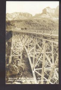 RPPC OAK CREEK CANYON ARIZONA WILSON GULCH BRIDGE VINTAGE REAL PHOTO POSTCARD