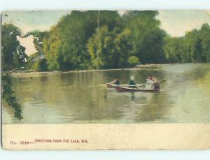 Divided-Back POSTCARD FROM Fox Lake Wisconsin WI HM7120