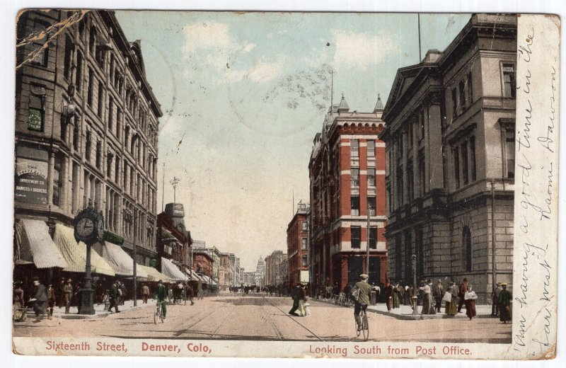 Denver, Colo., Sixteenth Street, Looking South from Post Office