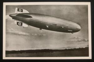 Mint RPPC Real Picture Postcard LZ 129 Zeppelin Hindenburg landing After Trip B