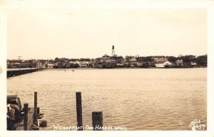Oak Harbor Washington~Tall Watertower Above Skyline~Postcard RPPC 1940s