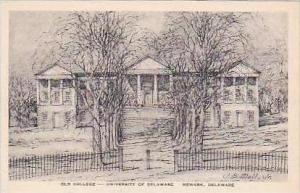 Delaware Newark Old College University of Delaware Albertype