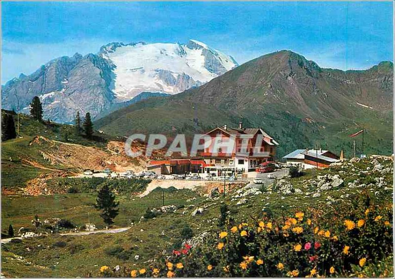 Postcard Modern Albergo Dolomiti Passo Falzarego
