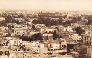 MEXICO PANORAMICA~STADIUM~COCA COLA SIGNS~REAL PHOTO POSTCARD 1940s