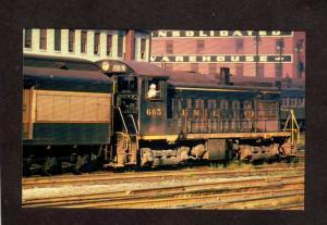 Erie Railroad Train Locomotive Switcher #665 Steam Builder Lima Postcard