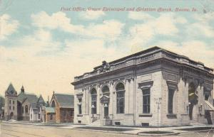 BOONE , Iowa, PU-1900-10s ; Post Office, Grace Episcopal & Christian Church