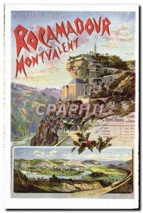 Postcard Old Train Railway d & # 39Orleans Rocamadour Montavlent