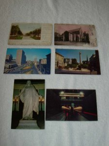 Baltimore MD - Lot Of 6 Great Vintage Postcards - x0520