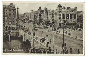 Dublin; O'Connell Bridge PPC, 1937 PMK to Miss Webb, Lucerne Rd, London