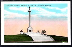 Wisconsin Monument,National Military Park,Vicksburg,MS