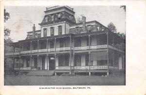 D72/ Saltsburg Pennsylvania Pa Postcard 1907 Kiskiminetas High School Building