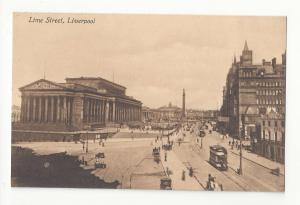UK England Liverpool Lime Street NW Railway Hotel St Georges Hall Vtg Postcard