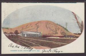 Hoosier Slide Michigan City IN Postcard 4734