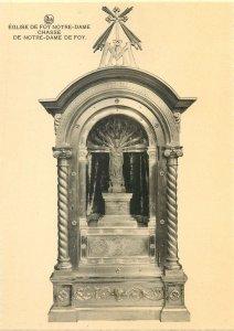 Postcard Belgique church FOY NOTRE - DAME commission royale chasse statue cross