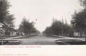 BRAINERD, Minnesota, 1900-1910's; Fourth Street North View