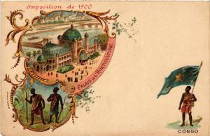 CPA EXPO 1900 PARIS Palais de l'Horticulture CONGO (562898)