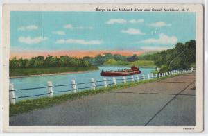 Barge on Mohawk River & Canal, Herkimer NY