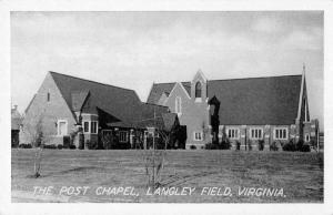 Langley Field Virginia The Post Chapel Antique Postcard J77719