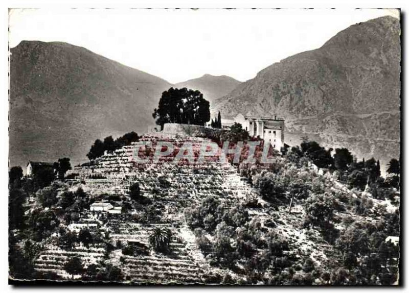 Modern Postcard Menton M N D of the Annunciation Monastery of whole view