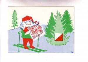 Santa Clause with Glasses on Cross Country Skiies, Oreinteering, PP, Swedish ...
