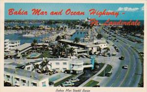 Florida Fort Lauderdale Bahia Mar Yacht Basin And New Highway A1a 1966