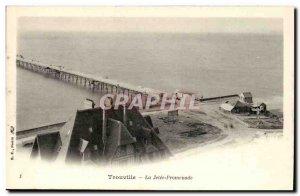 Trouville Old Postcard The pier walk