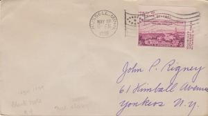RUSSELL MN - FLAG CANCEL, dated 1938 on small COVER