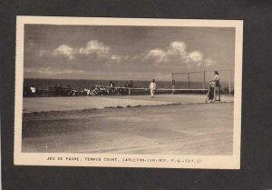PQ Tennis Court Jeu de Paume Carleton Sur Mer Quebec Canada Carte Postale PC
