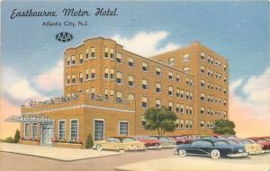 Atlantic City New Jersey~Eastbourne Motor Hotel~Art Deco~1950s Cars~Linen