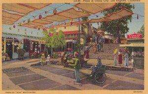 LOS ANGELES, California, 1930-1940's; Plaza In China City
