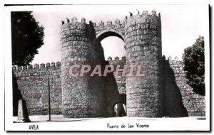 Modern Postcard Avila Puerta de San Vicente