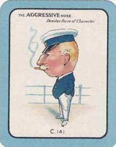 Carreras Vintage Large Carreras Cigarette Card Nose Game No C4 The Aggressive...