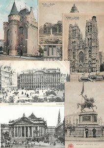 Belgium Bruxxeles Brussels Brussel Postcard Lot of 36 01.03