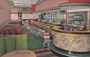 LAKE GENEVA , Wisconsin, 30-40s; Hotel Clair Bar