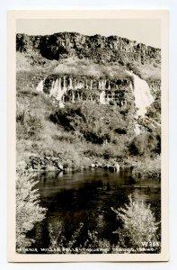 Postcard Minnie Miller Falls Thousand Springs ID Standard View RPPC Card