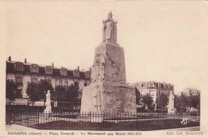 Place Centrale, Le Monument Aux Morts 1914-1918, Soissons (Aisne), France, 19...