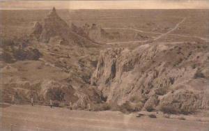 South Dakota  Wall Vampire Park Cedar Pass Badlands National Monument Albertype