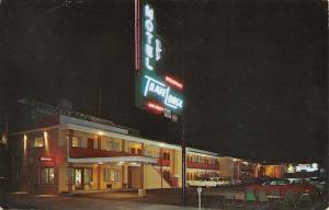 Memphis Tennessee~Neon Sign Night~TraveLodge~Sleep-Walking Bear Billboard~1950s