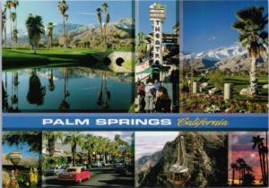 Palm Springs California CA Multiview Unused Vintage Postcard D37
