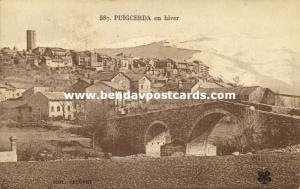spain, PUIGCERDA, La Cerdaña, Vista Parcial en Hiver (1920s) Stamp